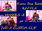 [Image: have a Raffle  with three winners to let you watch my Birthday Party live and a free custom Made from Party Footage]