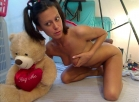 [Image: Pigtail and teddy bear pic set]