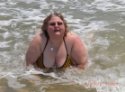 [Image: Big Girl in Itsy Bitsy Tenny Tiny Yellow Poka Dot Bikini 60 hd photos Set]