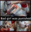 [Image: Bad girl was punished]