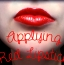 [Image: Applying red lipstick]